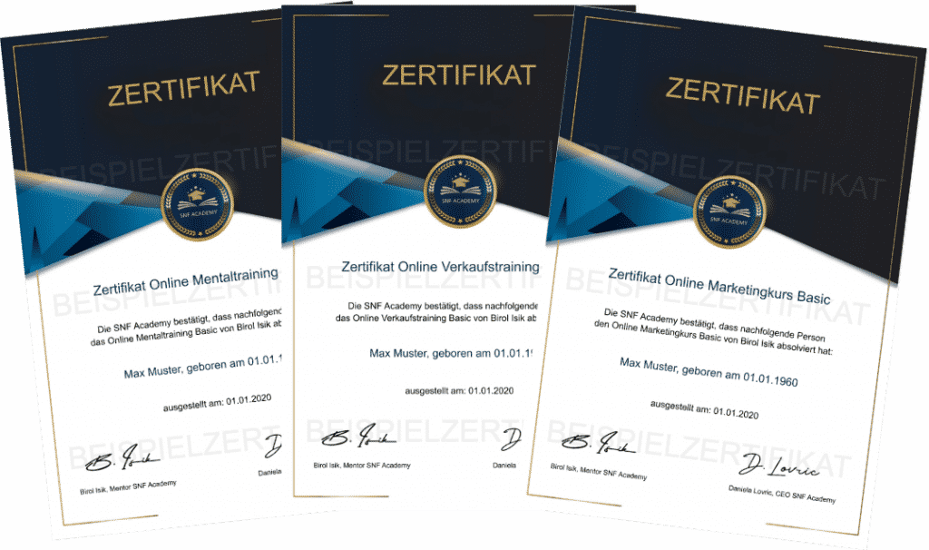 zertifikat marketingkurs, verkaufstraining, mentaltraining